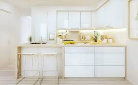small modern white kitchen stylish the best and modern white