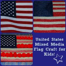 the united states flag mixed media craft for kids wikki stix