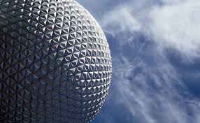 free stock photo of golf ball structure at epcot orlando florida