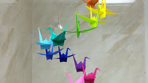 Diy Paper Home Decor by How To Make A Colorful Origami Crane Mobile Diy Home Tutorial