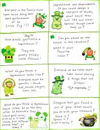 st patrick u0027s day conversation cards free printable social