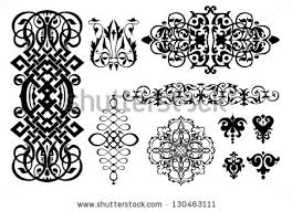 vector islamic design elements on white stock vector 90390094