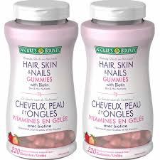 nature u0027s bounty hair skin u0026 nails with biotin 2 x 220 gummies