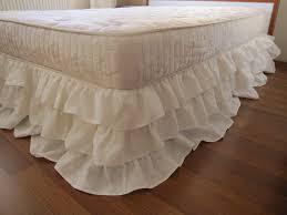 queen or king linen 3 tier ruffle bed skirt dust ruffle