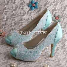 mint wedding shoes wedopus mint green platform high heels wedding shoes satin