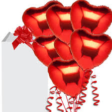 heart balloon bouquet s day helium balloon deliveries valentines gift