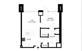 Bedroom Floorplan by Rand 1 Bedroom Floorplans In Cambridge Ma Zinc Apartments