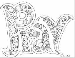 unbelievable printable doodle coloring pages with doodle art