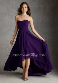 violet dress violet chiffon high low strapless bridesmaid dress 387 00