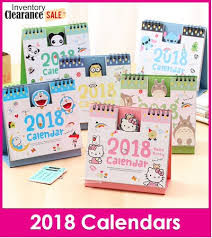 minion desk calendar 2017 qoo10 calendar stationery supplies