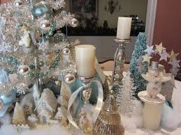 snowflake table top decorations dazzling dining room ideas showing exquisite tabletop christmas
