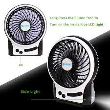 Small Table Fan Souq Amazon Com Portable Rechargeable Personal Fan 3 Speeds Desk