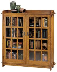 Glass Bookcase With Doors Stickley Bookcase With Glass Doors 89 645 Bookshelves With