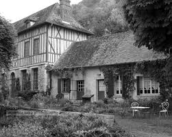 French Country House French Country House Giverny France Black And White Photograph