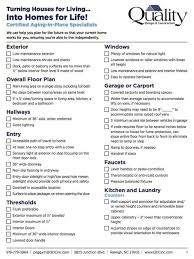 home design checklist universal design checklist