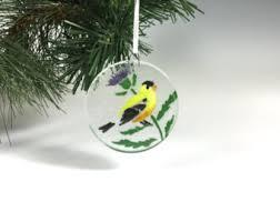 goldfinch ornament etsy