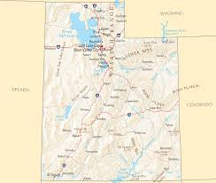 Utah Cities Map by Counties Map Of Utah U2022 Mapsof Net