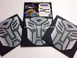 transformers invitation u2013 benzema 5th birthday u2013 sweets delight