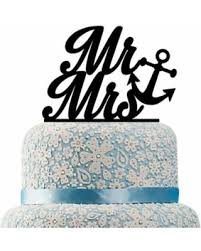 nautical cake toppers big deal on buythrow nautical mr and mrs wedding cake topper