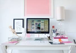 Cute White Desk A Writers Workspace Melanie Mccaw