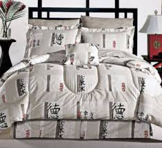 Asian Bedding Set Alcala Decorating With Asian Comforters In Black And