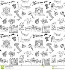Venice Italy Map Venice Italy Seamless Pattern Hand Drawn Sketch With Map Of Italy