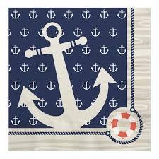 amazon com ahoy nautical party tableware plates cups napkins