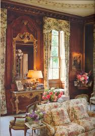 English Country Window Treatments by Silk Covered Walls And Faded Chintz Compliment The Carved Paneling