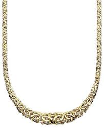 byzantine necklace images Italian gold 17 quot byzantine necklace in 14k gold necklaces tif