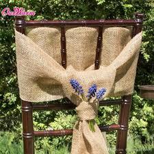 Burlap Chair Sash Burlap Chair Covers Home Chair Decoration