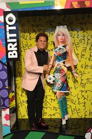 romero britto barbie celebrates with world renowned artist romero britto to