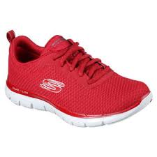 Skechers Comfort Construction 12775 Red Skechers Shoes Women Memory Foam Sport Comfort Mesh