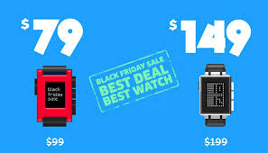 black friday smartwatch pebble smartwatch priced at 79 and pebble steel at 149 under