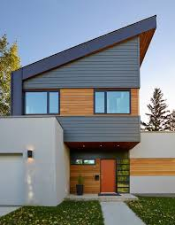 Modern Home Design Edmonton Magnificent Light Wood Trim Exterior Contemporary With Modern