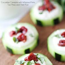 cucumber canapes cucumber canapés with feta sun dried tomatoes and by two