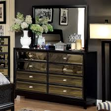 Furniture Of America Bedroom Sets Furniture Of America Mendes 8 Drawer Black Dresser With Mirror