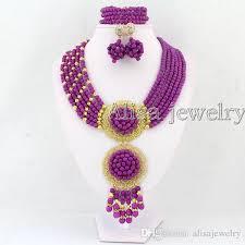 beautiful beads necklace images 2018 beautiful nigerian wedding beads turquoise jewelry set jpg