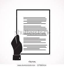 Resume Document Businessman Hand Holding Resume Document Cv Stock Vector 575203030