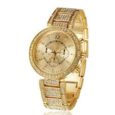 luxury gold bracelet watches images 2017 stainless steel top luxury rhinestone gold bracelet watch jpg