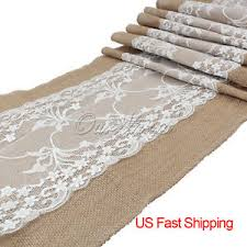 Kitchen Table Runners by Wholesale 10pcs Burlap Lace Table Runners Wedding Party Kitchen