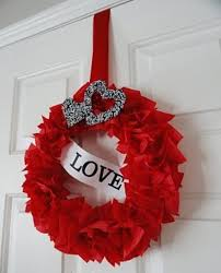 Valentines Home Decor Craft Ideas wreath and garland valentine day decorations ideas decorations for