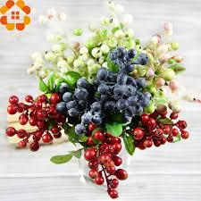 fruits flowers 4 color 10pcs decorative blueberry fruit berry artificial flower