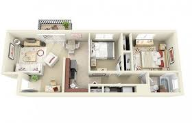 Two Bedroom Apartments Floor Plans 20 Interesting Two Bedroom Apartment Plans Home Design Lover