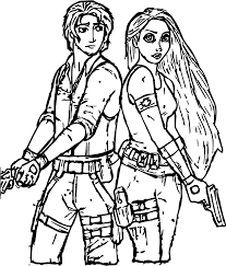rapunzel and flynn police coloring page wecoloringpage