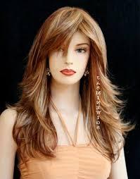 short layered haircut long bangs women medium haircut