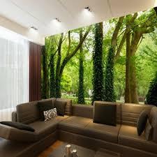 livingroom restaurant shinehome trees vine in forest green natural wallpaper mural rolls