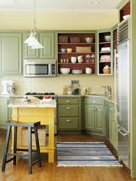 Cottage Kitchen Cupboards - sage green country cottage kitchen with farmhouse sink