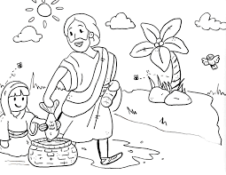 free sunday coloring pages kids bible preschoolers