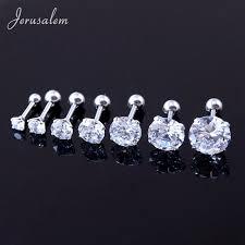 surgical steel stud earrings cz zircon tragus ear stud earrings women surgical steel
