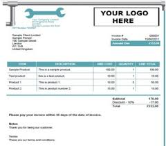 plumbing invoice template word invoice example